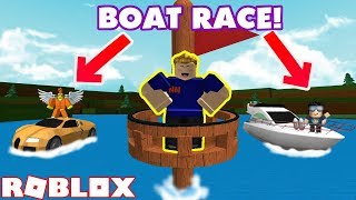 3 WAY BOAT RACE IN ROBLOX! Build a Boat for Treasure! Ft. DigDugPlays & MyUsernamesThis