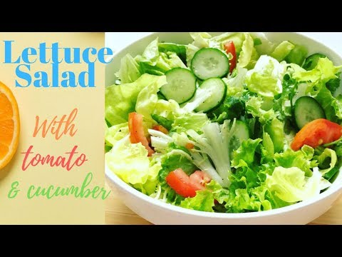 Lettuce Salad Healthy Salad for Weight Loss Salad Xà Lách, Cà Chua Và Dưa Leo