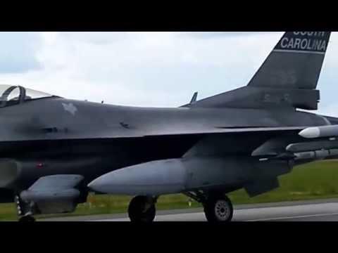 Amerykańskie F-16 w Łasku