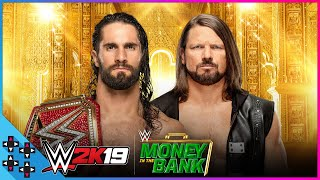 Money In The Bank 2019 - Seth Rollins vs. AJ Styles – Universal Title Match – WWE 2K19 Match Sims