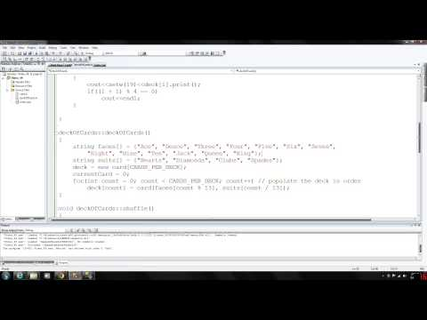 C++ Programming 49 - Deck of Cards