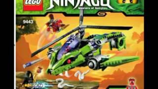 LEGO NinjaGo 9443 Rattle Copter . Інструкція по збірці