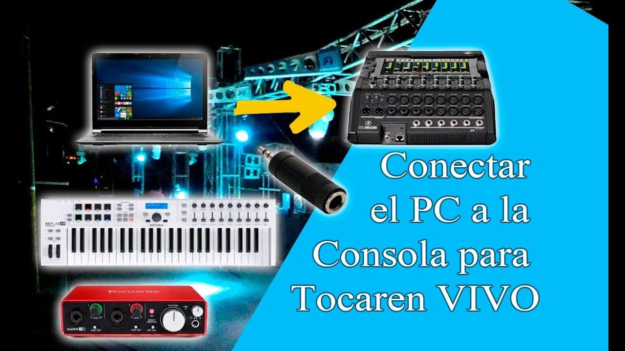 Como Conectar PC a la Consola de Sonido para Tocar en Vivo