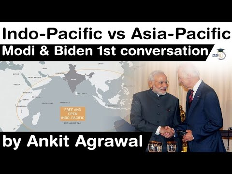 Difference in Indo Pacific and Asia Pacific Strategy - 1st conversation between PM Modi & Joe Biden