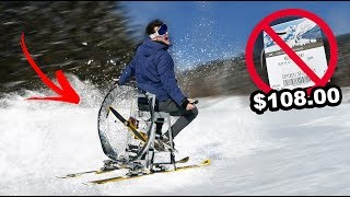 "Putting a GIANT FAN On Skis To Avoid Buying a Lift Ticket ""What Could Go Wrong"""