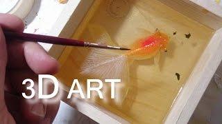 3D art resin goldfish
