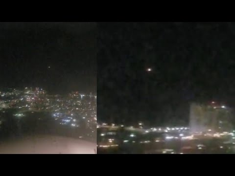 Fast Bright UFO Filmed Keeping Pace with Commercial Airplane over San Juan, Puerto Rico