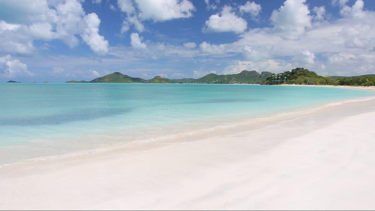 2 Minutes 4k Scene Antigua Beach