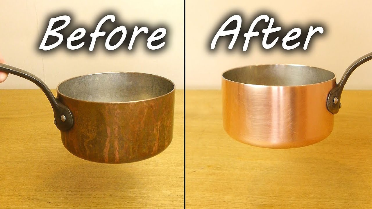 How To Clean A Copper Pan Youtube