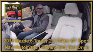 Review and Virtual Video Test Drive In A 2018 Mazda 6 Tourer 2 5 194ps GT Sport Nav+Automatic VA18CR