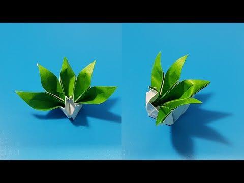 Origami art - Gấp Hạc Có Bộ Đuôi Đặc Biệt    Special Crane - Easy Origami