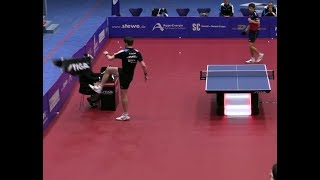 Steffen Mengel completely freaks out after losing a Match