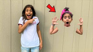 Sally Stuck in the Wall adventure Funny stories