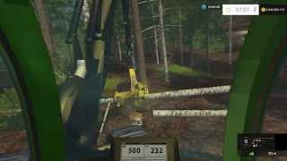 FS 15 Hardcore Forestry #7 Birch Trees Felling with Harvester