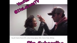 Vlog 90: Fashion Rocks NYC, Usher, Enrique Iglesia, GMA, Fashion Week, Birthday