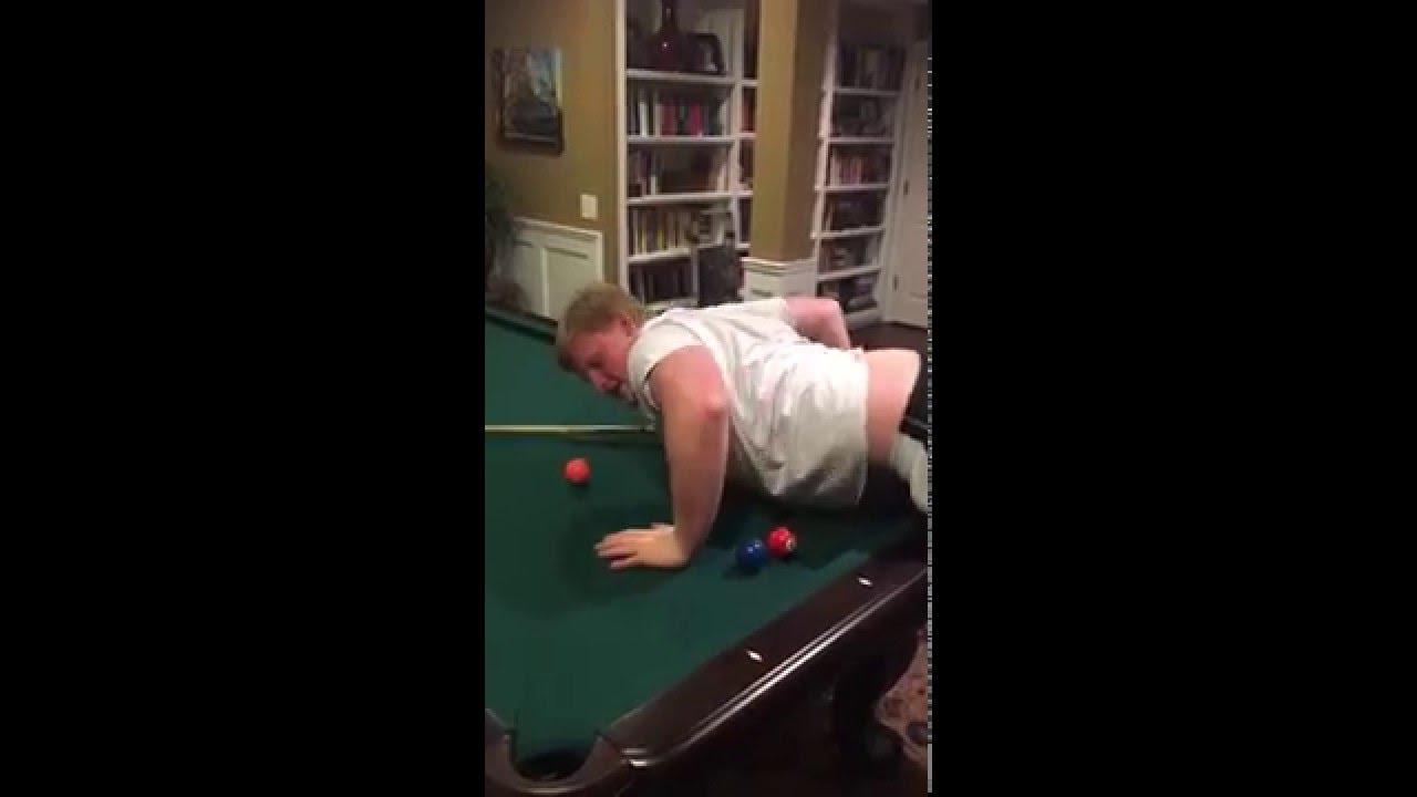 FAT KID ALMOST BREAKS POOL TABLE YouTube - Pool table guys