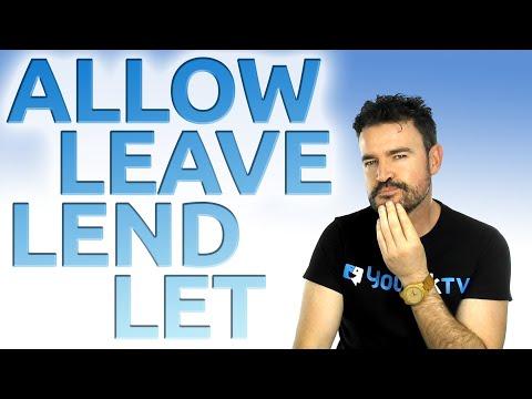 Let, Lend, Leave, Allow cómo decir DEJAR en INGLÉS / Inglés Americano / Accent Training