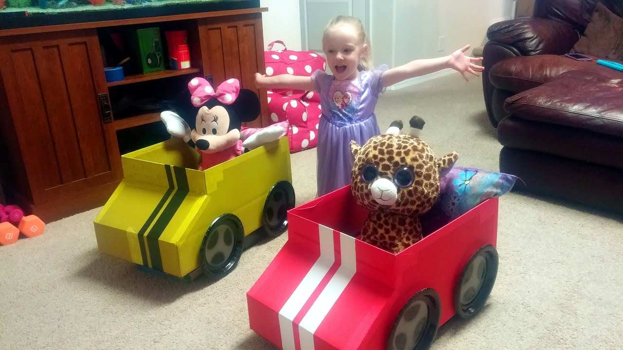 How To Make A Cardboard Box Car For Kids By Trinity And