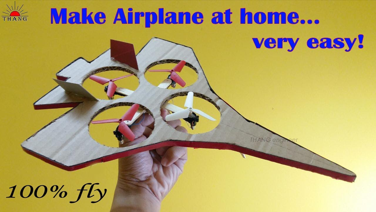 Download How to make a Remote Control Airplane at home very easy