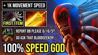 HOW TO 100% DELETE TANKY 7.23 BRISTLEBACK First ITEM 10min Blade Mail Crazy MID Bloodseeker DotA 2