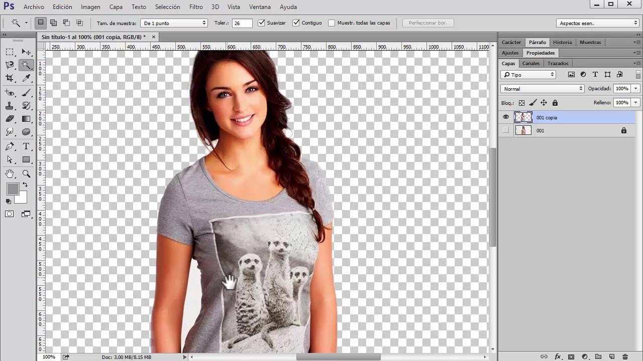 Quitar fondos en photoshop