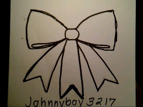 draw fancy bow como dibujar