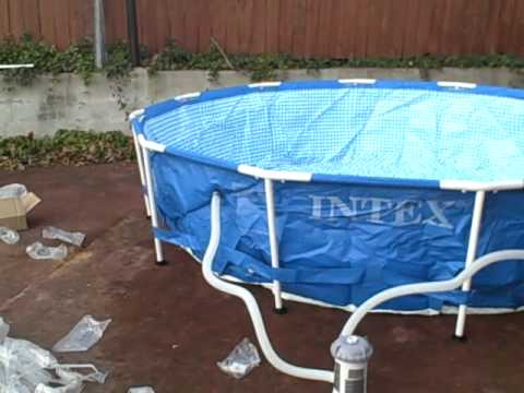 Kiddie pool aquaponics setup 6 youtube for Koi pond kiddie pool
