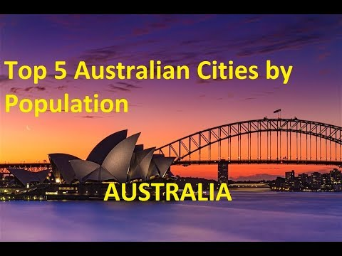 Top 5 Australian cities by Population