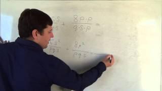 Алгебра 8 класс. 26 сентября. Сложение и вычитание алгебраических дробей с разными знаменателями #5