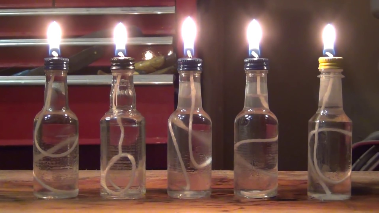 How To Make Small Oil Candles Youtube