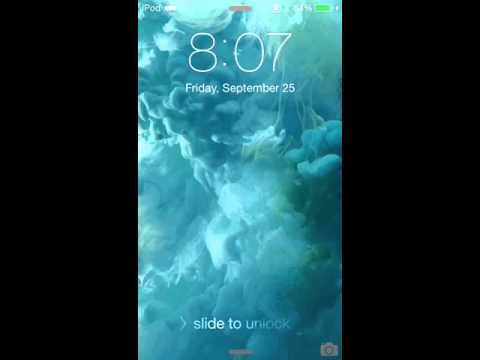 iOS 9 live wallpaper on iPod touch 6G