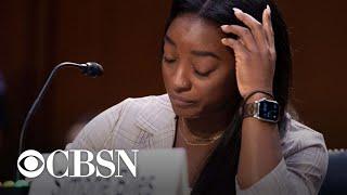 Star gymnasts give chilling testimony on FBI mishandling of Larry Nassar case