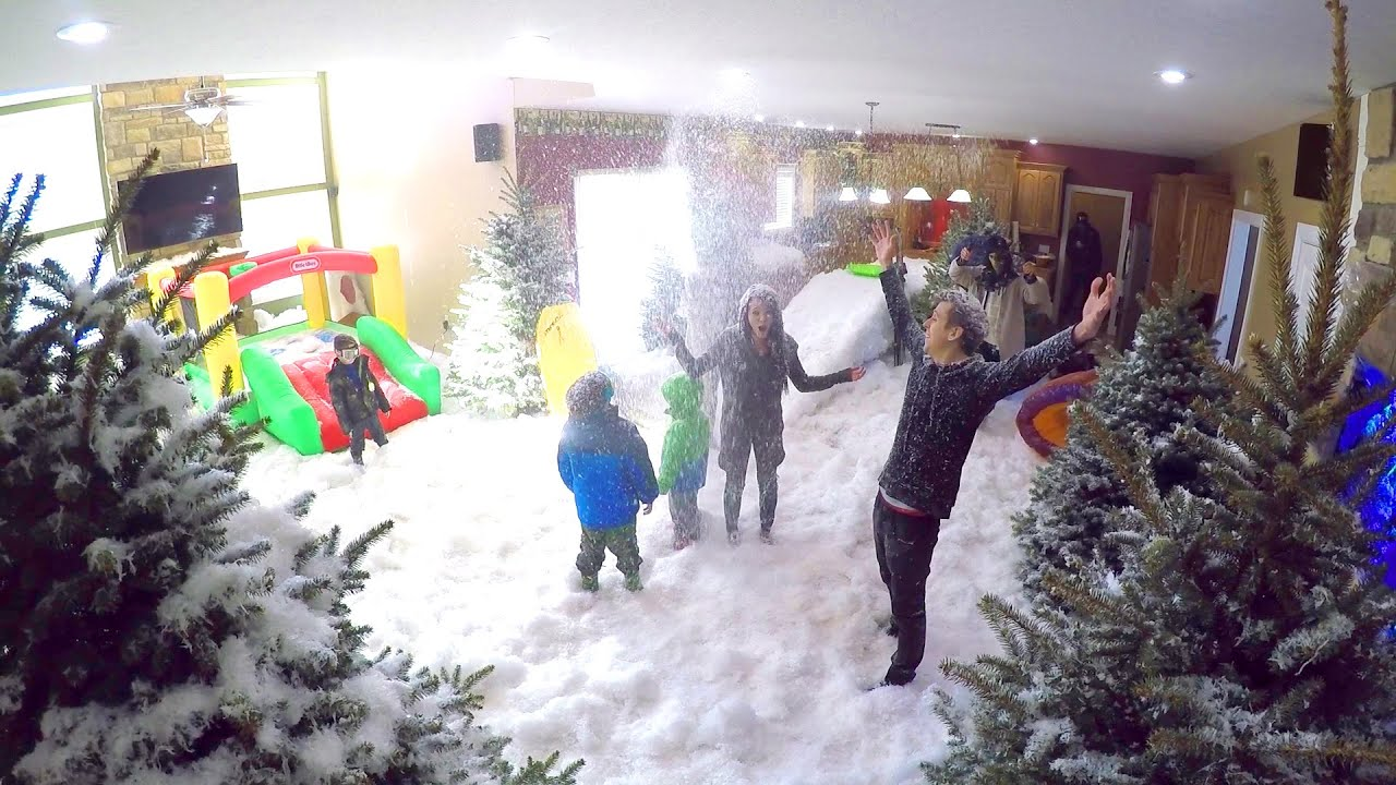 INDOOR SNOWSTORM PRANK!! - YouTube