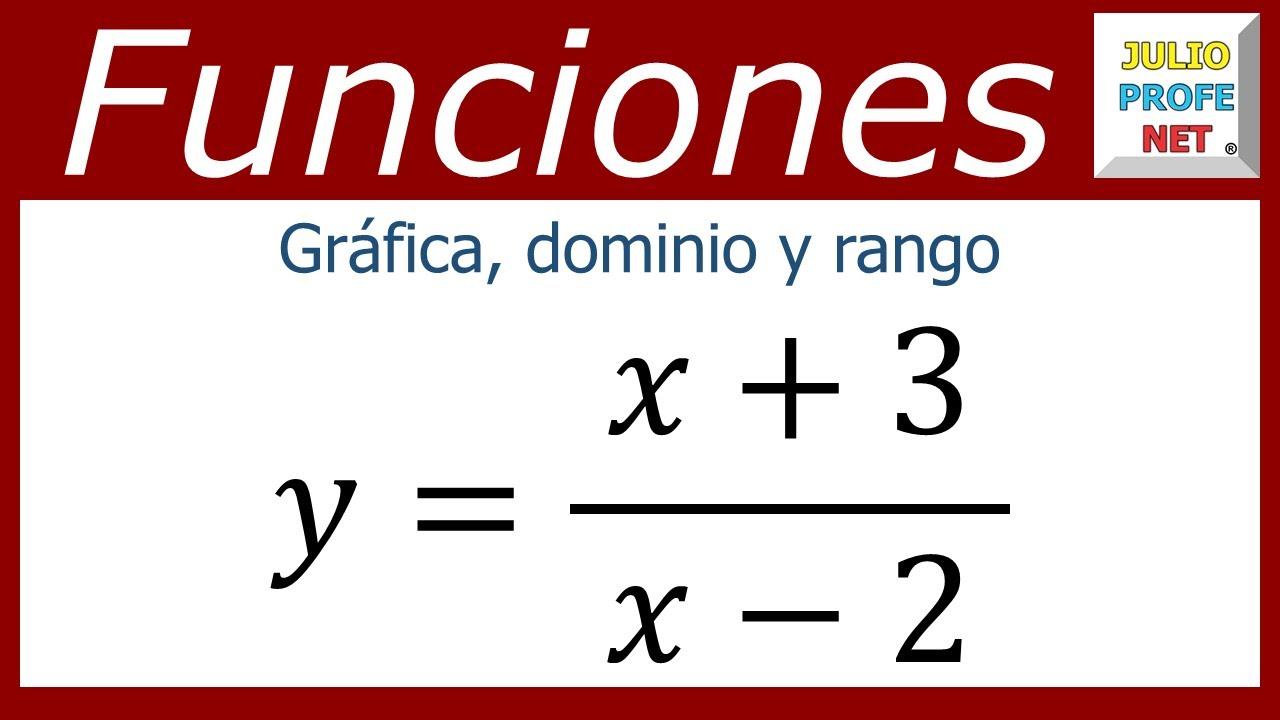 GRÁFICA, DOMINIO Y RANGO DE UNA FUNCIÓN RACIONAL - YouTube