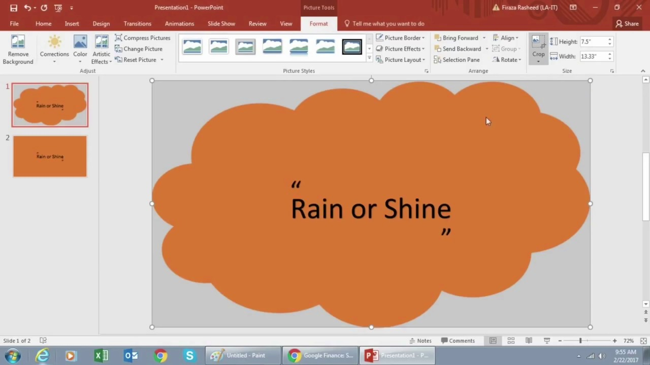 how to make a cool powerpoint slide youtube