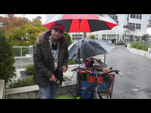 Tony is homeless in  Vancouver , Canada.