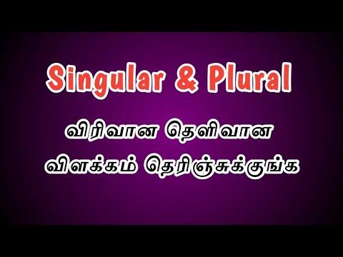 Singular & Plural In Tamil | Noun Part 3 | Tamizh Vazhi Karpom