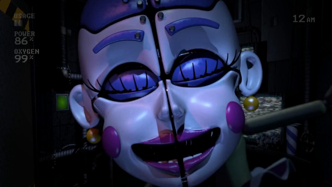 《佛萊迪之五夜驚魂 姊妹地點篇》自訂夜晚 女孩之夜 簡單 Five Nights at Freddy's Sister Location Girls,Night easy - YouTube