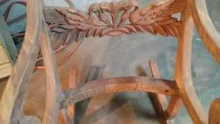 Refinishing Antique Rocking Chairs  At Timeless Arts Refinishing