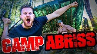 DAS ENDE - CAMP ABRISS Bushcraft Super Shelter - Survival Lager Lagerbau - Deutschland deutsch