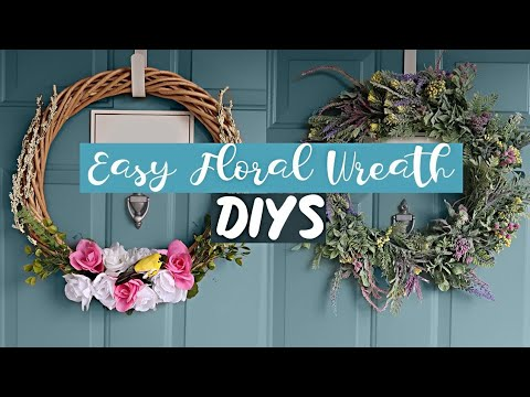 2 EASY DOLLAR TREE DIY WREATHS for SPRING and SUMMER