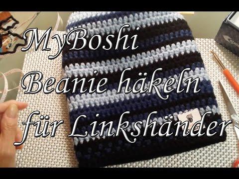 Myboshi Beanie Häkeln Für Linkshänder Youtube