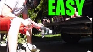 How to Remove Trailer Hitch (Lost Key)