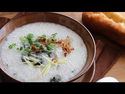 Chao Hot Vit Bac Thao Thit Heo (Century Egg with Pork Porridge) Recipe