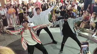 Download lagu KANG LEO & FRIENDS. MOMOLAND 'BBOOM BBOOM' ,  IKON 'BLING BLING' 'B-DAY' COVER. FANTASTIC BUSKING.