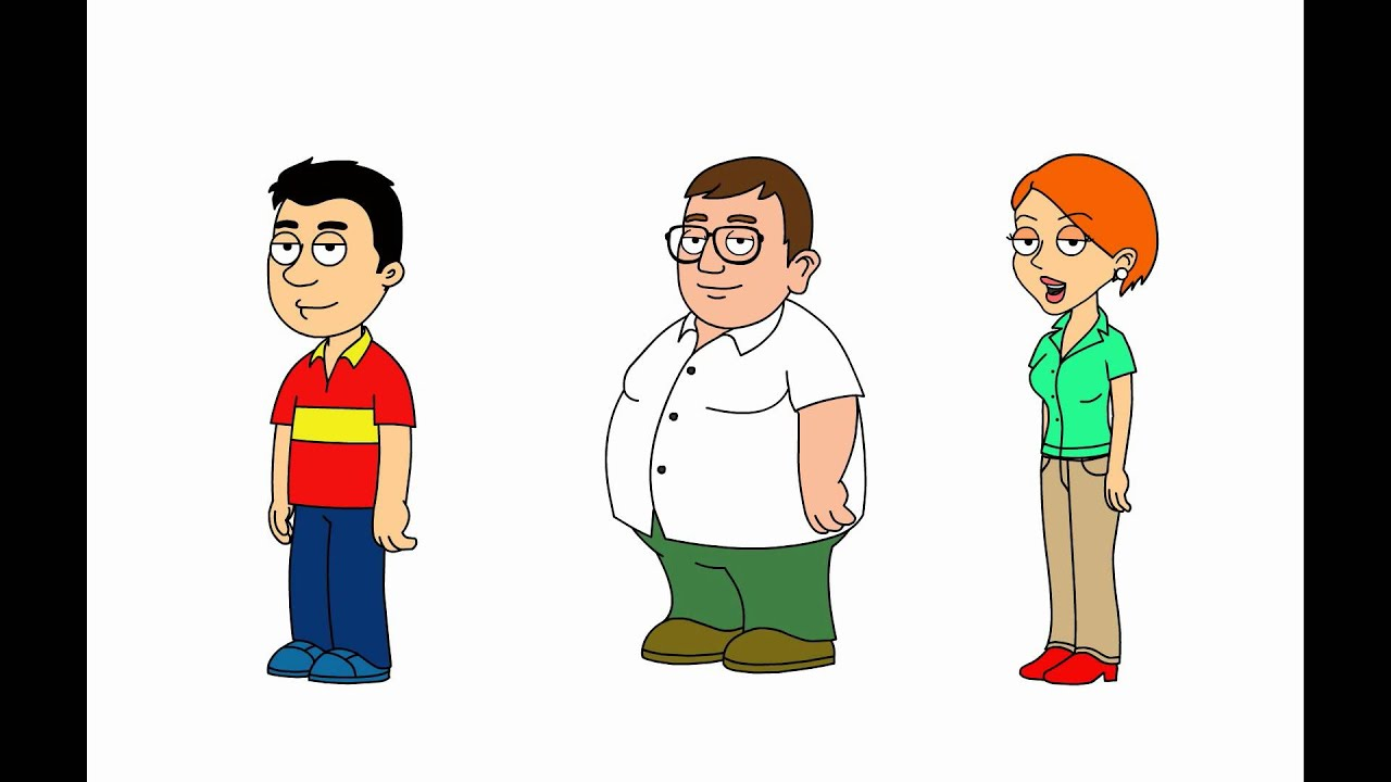 3 family guy characters made 2 newbies youtube
