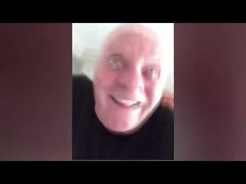 Anthony Hopkins getting crazy in a strange selfie video 🤪