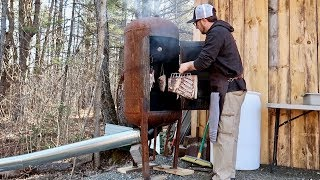 Smokin Bacon That we Raised on Our Homestead