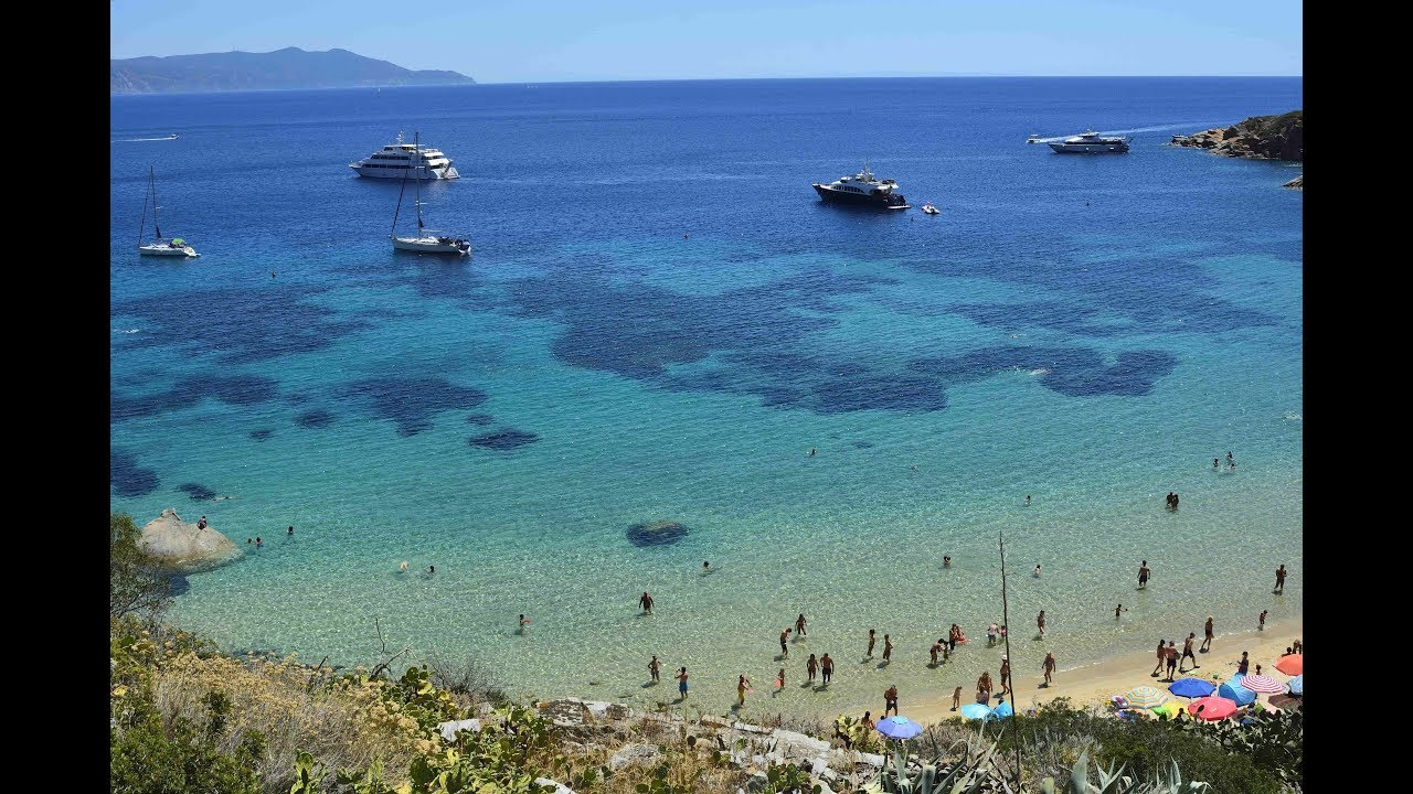 """Isola del Giglio """"Spiaggia delle Cannelle"""" YouTube"""