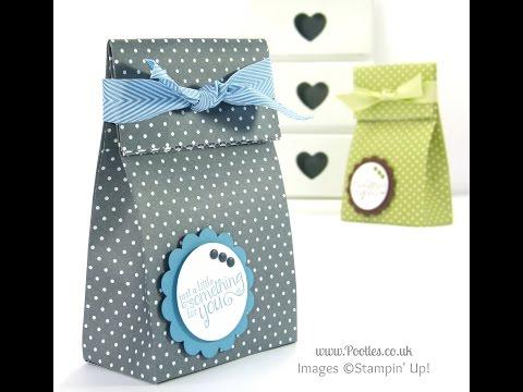 Fold Over Paper Bag Tutorial